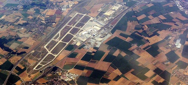 Areal View of Lyon Airport