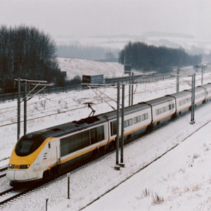 Travelling by Train to the Alps